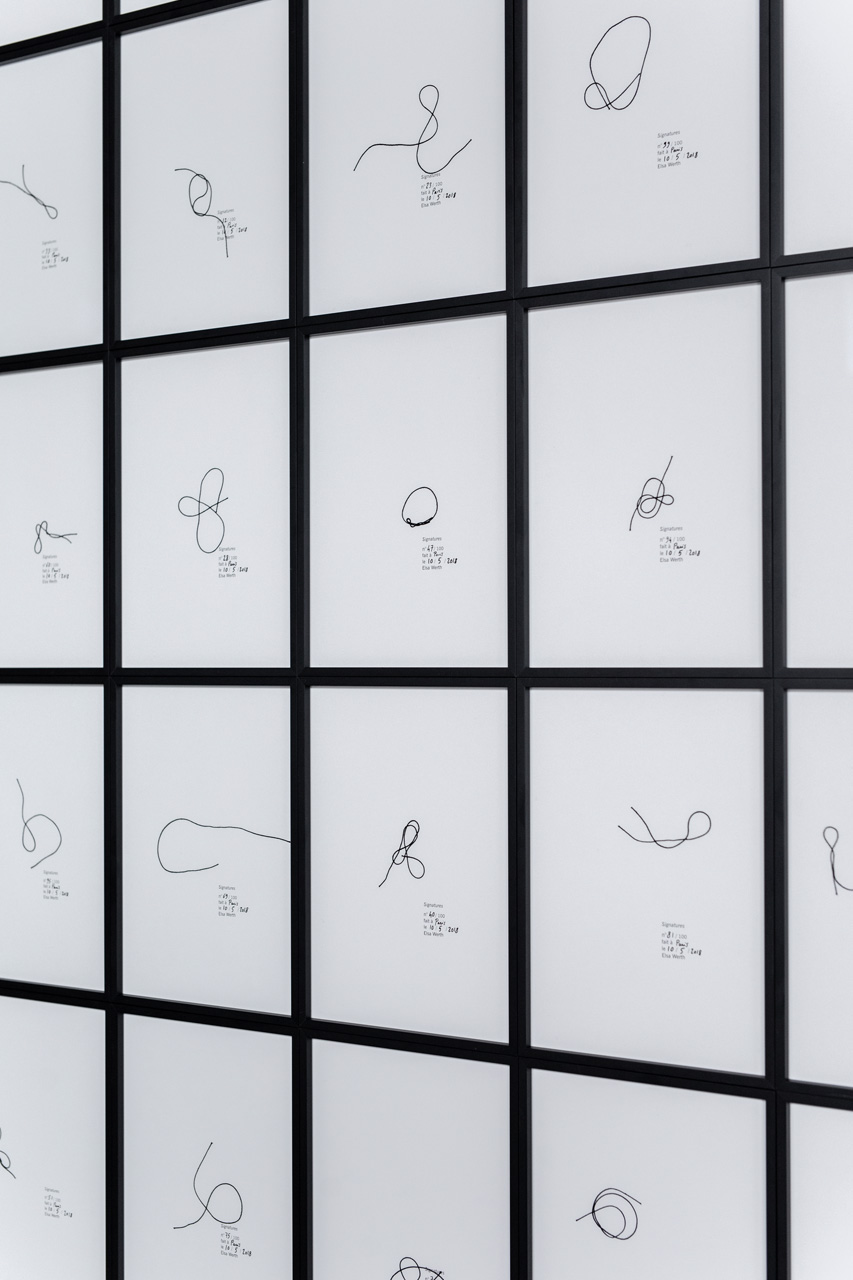 Elsa Werth, Signatures, 2018, Calculated Chance_ exhibition view 2